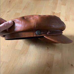 BRIXTON leather fiddler cap Size S